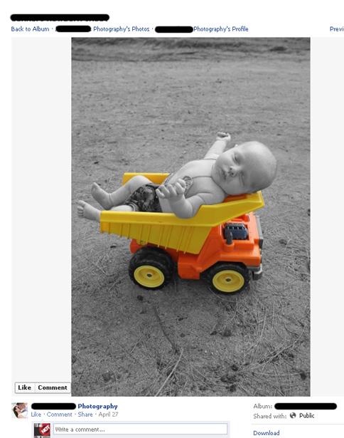 dump truck baby