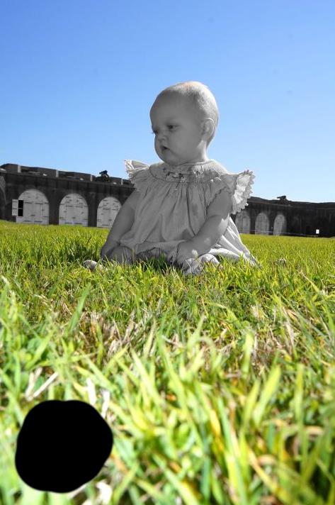 grey grass baby