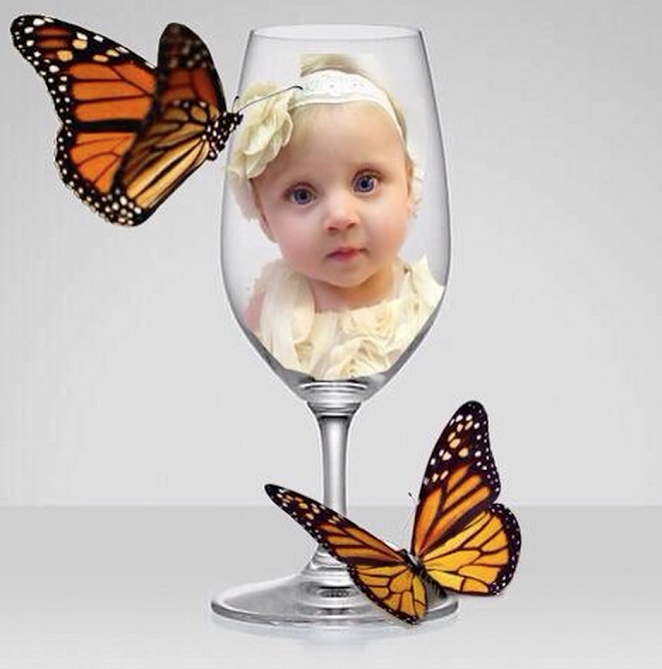 butterfly baby glass