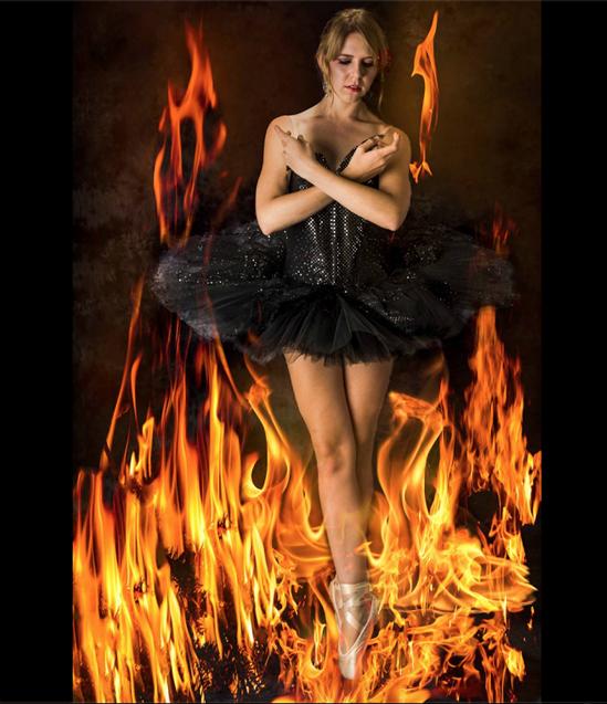 burning ballarina